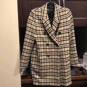 Women's Zara Check coat size xs